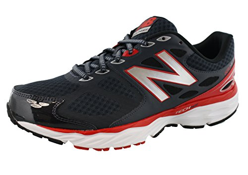 New Balance Men's 680v3 Running Shoe, Outer Space/Red, 13 4E US
