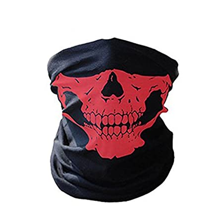 TOPmountain - Bike Motorcycle Outdoor Skiing Scarf Neck Face Mask Headscarf Skull Pattern