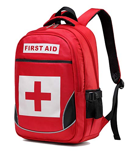 Camoredy Medical First Aid Bag Empty Emergency Treatment Backpack Large First Responder Trauma Bag Waterproof Multi-Pocket for Hiking Travel Field Trips Camping Daycare