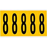 Brady 1560-8, 97098 15 Series Indoor/Outdoor Number and Letter, (Pack of 20 Cards)