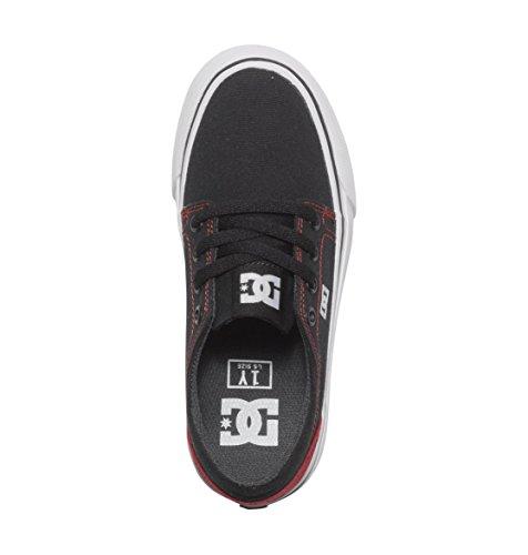 DC Shoes Jungen Trase TX B Low-Top Schwarz/ Rot