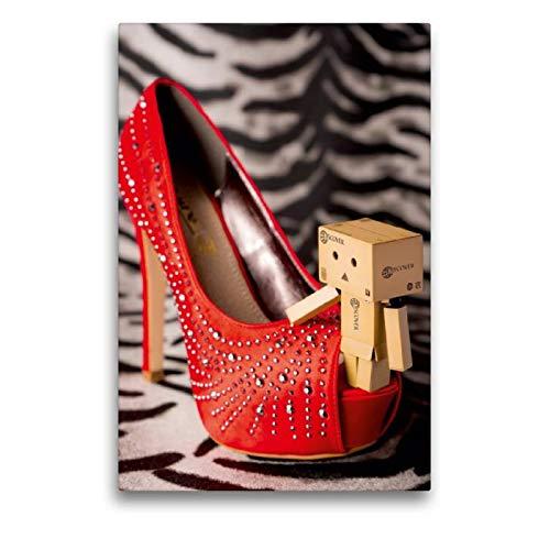 CALVENDO Spass Toile décorative en Textile de qualité supérieure avec Motif Hot Shoe Rouge 50 x 75 cm