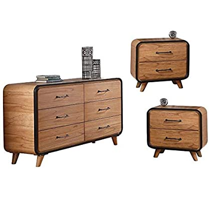 Amazon.com: Acme Furniture 3 Piece Bedroom Set with Dresser and Set ...