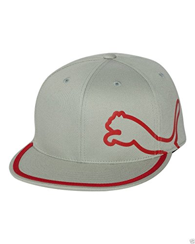 - Puma Monoline 210 Fitted Cap - Gray/Red (Large/X-Large)