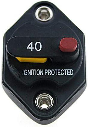 Pack of 2 12V//24V//32VDC 10A /& 30A Car Audio Inline Circuit Breaker Fuse Holder Manual Reset Switch