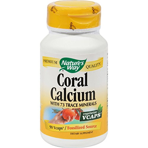Natures Way Coral - Nature's Way Coral Calcium with 73 Trace Minerals - 90 Vegetarian Capsules