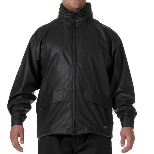 Helly Hansen Men's Voss Windproof Waterproof Rain Jacket, 990 Black, Medium by Helly Hansen