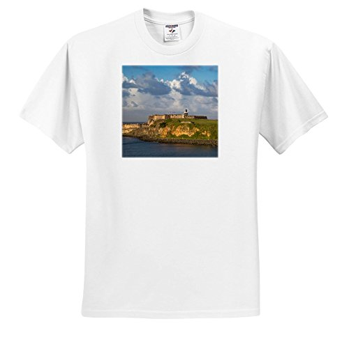 Price comparison product image Danita Delimont - Fortress - Sunset Over Fortress EL Morro,  Old Town,  San Juan,  Puerto Rico - T-Shirts - Youth T-Shirt Large(14-16) (TS_277164_14)
