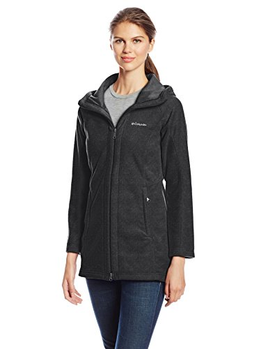 Columbia Women's Benton Springs II Long Hoodie, Charcoal Heather, Medium