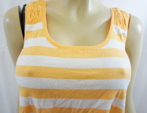 Pringle 1815, Arancione e bianco a righe senza maniche gilet Top
