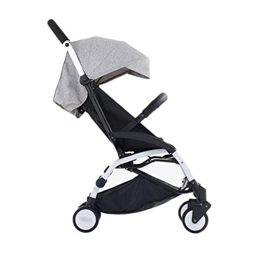 Baby Strollers Ultralight Easy Pocket Pushchairs Prams Portable Strollers Buggies Folding Can Sit Children Kids Travel Pushchair (Color : Gray, Size : 26.7715.7440.55inchs)