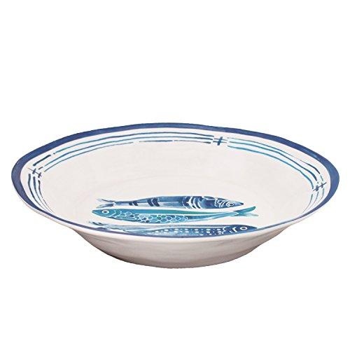 Le Cadeaux Santorini Melamine 13.75'' Salad Bowl by Le Cadeaux
