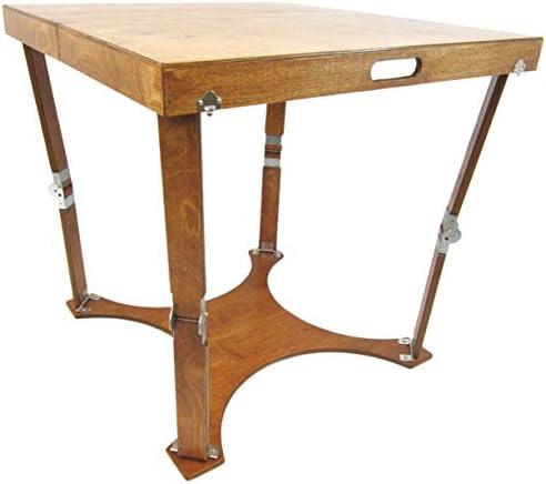 Spiderlegs Folding Cafe Table, 30-Inch, Warm Oak