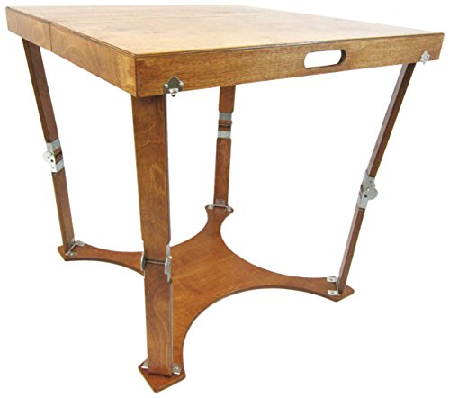Spiderlegs Folding Cafe Table, 30-Inch, Warm Oak