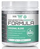 Generation Greens Powder   Organic Superfood Powder with 60 Powerful Ingredients   Chlorella, Spirulina, Wheat Grass and CoQ10 Included   15 Servings, Original