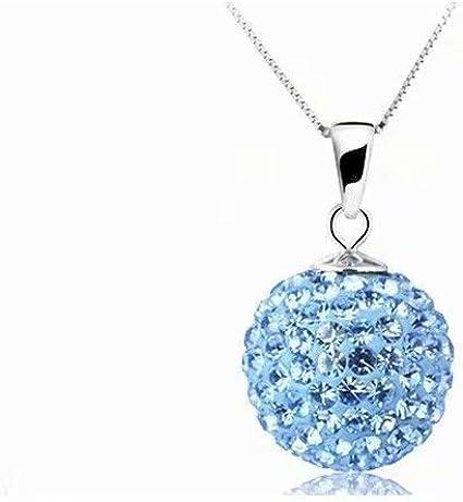 Doyime Azul Nuevo collar de 10 mm lleno de joyas de arcilla de diamante