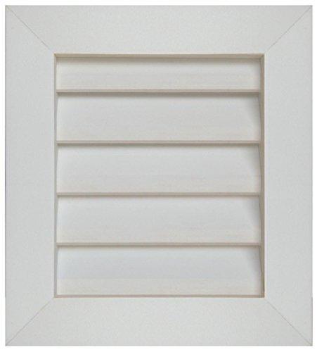 Square Gable Vent Louver (GA1216 PVC Gable Vent ~ Louver box 11.5 x 15.5 ~ Overall 15.5