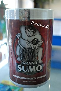 Grand Sumo Accelerated Growth Enhancer - Flowerhorn Cichlid Fish Food 550g (Best Food For Piranha Growth)