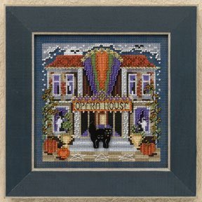 Opera House Beaded Counted Cross Stitch Halloween Kit Mill Hill 2009 Buttons & Beads Autumn MH149201 - $14.99