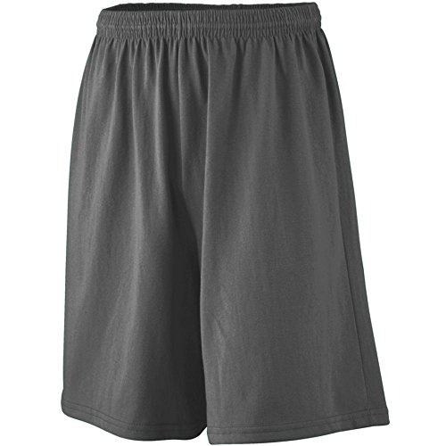 Augusta Athletic Longer Length Jersey Short-Youth, Black, Medium by Augusta Athletic