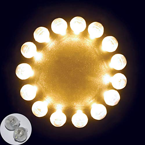 Neo LOONS 100pcs/lot 100 X Warm White Round Led Flash Ball Lamp Balloon Light Long Standby Time for Paper Lantern Balloon Light Party Wedding Decoration