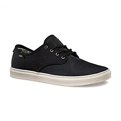 Amazon.com | Vans Ludlow Mens Black Leather Lace Up Sneakers Shoes 7 |  Fashion Sneakers