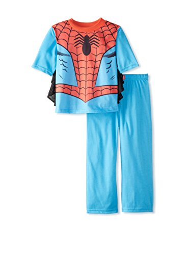 Spiderman Dress Like Spidey Pajamas With Webbed Sleeves for Little Boys (4)