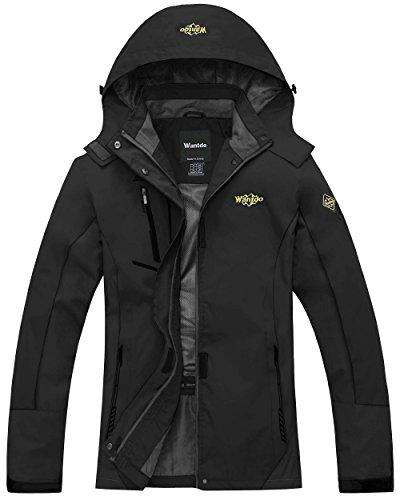 Wantdo Women's Windproof Breathable Jacket Athletes & Outdoor Sportswear,Medium,Black by Wantdo