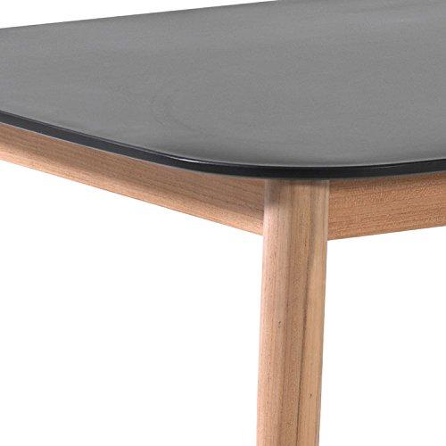 Amazon.de: Gecko Jardin Tisch Teak und duranite® Schwarz 213 x 100 ...