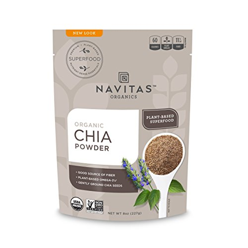 Navitas Organics Chia Seed Powder Bag, 8 Ounce (Best Quality Chia Seeds)