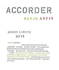 Accorder par David Antin