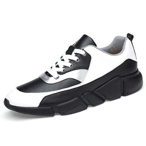メンズスポーツシューズ, 春/秋の革の運動靴, メンズカジュアル観光シューズ, スニーカーを高める,A,41
