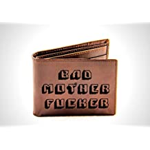 GENUINE LEATHER 'PULP FICTION - BAD MOTHER FUCKER' PROP BIFOLD WALLET