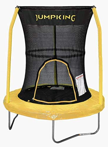 JumpKing Bazoongi Trampoline with 3 Poles Enclosure System, 55 , Yellow