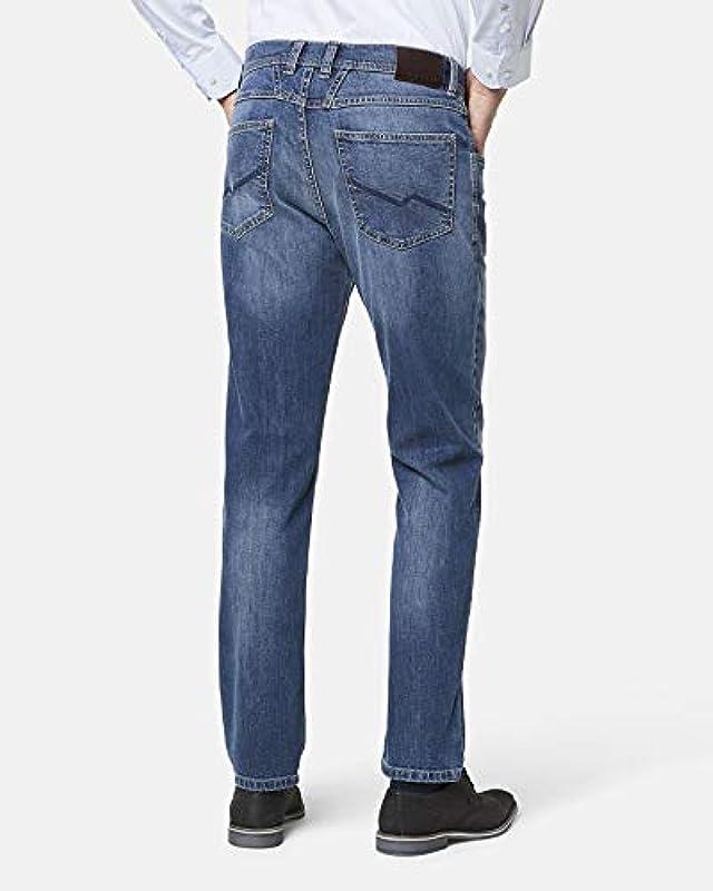 Bugatti dżinsy męskie niebieskie Blue Stone lekkie Used Look nowoczesne Fit wąskie nogawki (nr art.: 3919D-26612-344): Odzież