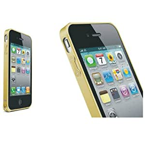 IVY Yellow - Hippocampal Buckle Metal Bumper Case Cover Skin (Do Not Include Front And Black Case) For Apple Iphone 4 4G 4S