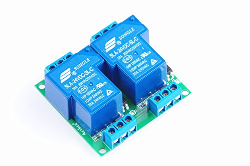 KNACRO DC 24V SLA-24VDC-SL-C DC 24V/AC 250V 30A dual relay module 30A two-way 2-way relay module optocoupler isolation - Dual Relay Module