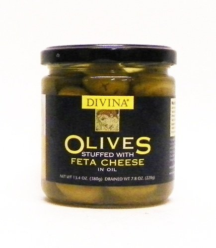 (Divina Olives Stuffed with Feta Cheese 7.8 oz)