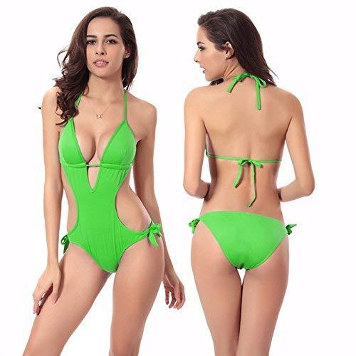 Costume Rosa Di Puro Bagno Dimensione Verde Bikini Colore Qiusa colore Da 68Iqwddn4