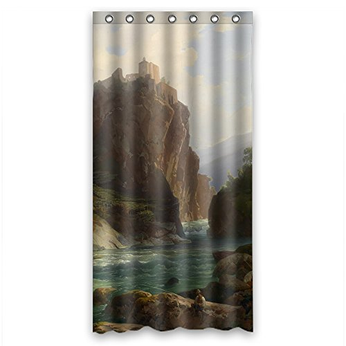 Pelican Eel (Cosbudy The Beautiful Scenery Landscape Painting Bath Curtains Of Polyester Width X Height / 36 X 72 Inches / W H 90 By 180 Cm Decoration Gift For Boys Kids Teens Father. Water Repellent)