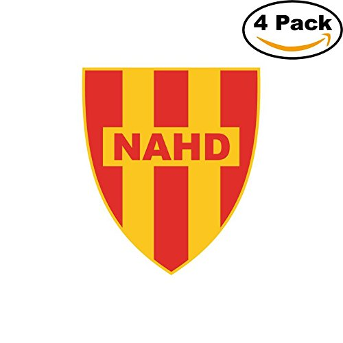 fan products of Nasr Athletique d Hussein-Dey of Alger Algeria Soccer Football Club FC 4 Stickers Car Bumper Window Sticker Decal 4X4