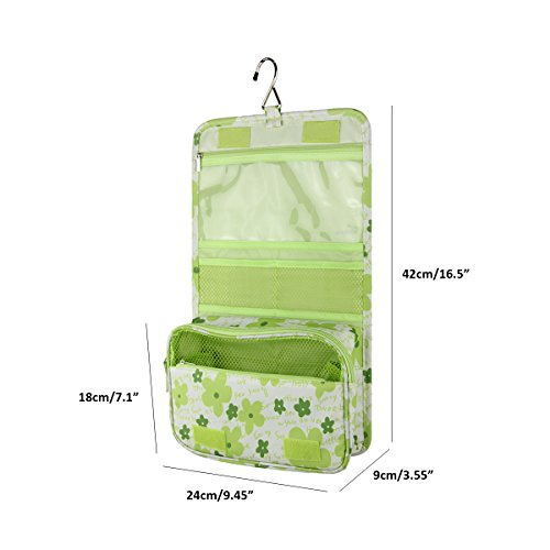 d07a238af9 Arvok Hanging Toiletry Bag with Metal Hook Portable Travel Makeup ...