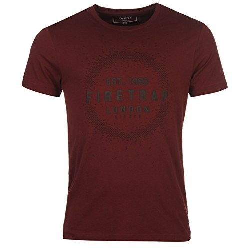 Firetrap Herren T-Shirt rot burgunderfarben