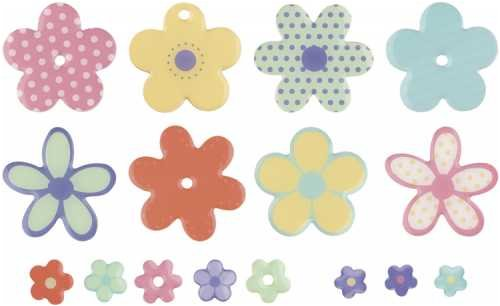 MAKING MEMORIES Sweets Dimensional 2-Sided Embellishments, Flowers - Embellishments Sweets Dimensional Sided 2