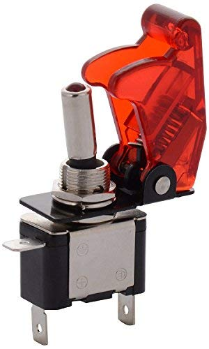 MODAXE Toggle Switch with Aircraft Safety Cover for Vehicles (Red) product image