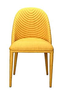 "Libby Dining Chair Yellow-Set Dimensions: 18.5""W x 22.5""D x 33""H Weight: 46 lbs"