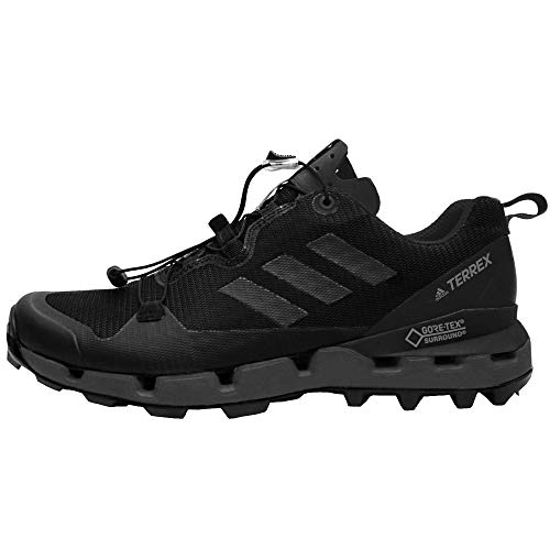 adidas outdoor Terrex Fast GTX-Surround Mens Hiking Boot Black/Grey Five/Hi-Res Red, Size -