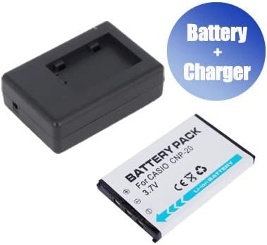 Charger Replacement for Casio Exilim EX-Z77PK BattPit trade; New Digital Camera Battery 800 mAh