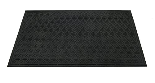 Americo Manufacturing 76916035 Dirt Stopper Eco Outdoor Scraper Mat with Ribbed Backing, 3' x 5', Black by Americo Manufacturing