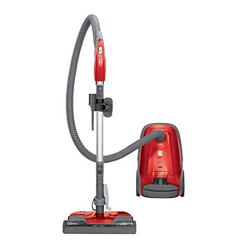 (Kenmore 81414 400 Series Pet Friendly Lightweight Bagged Canister Vacuum with Extended Telescoping Wand, HEPA, Retractable Cord, and 4 Cleaning Tools, Red)